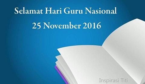 Surat Edaran Mendikbud Tentang Pekan Hari Guru Nasional Tahun 2016