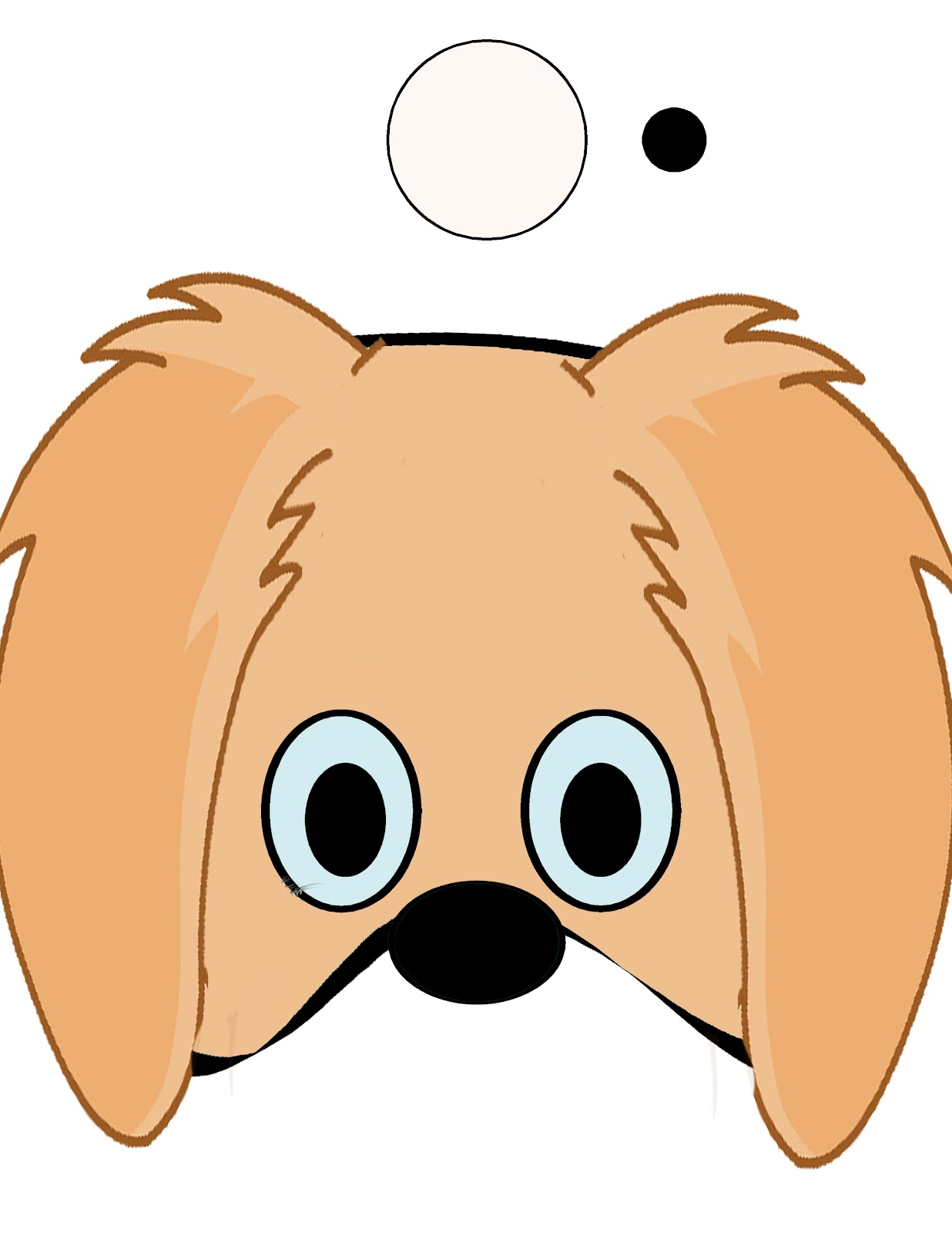 graphic regarding Dog Template Printable named pet template for small children free of charge coloring webpages upon masivy world wide
