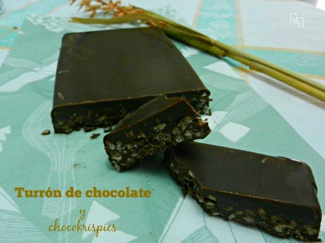 """""""Turrón de chocolate y chocokrispies"""""""