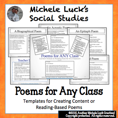 https://www.teacherspayteachers.com/Product/7-Poem-Templates-or-Direction-Cards-for-ANY-Class-for-Reading-Analysis-More-633703