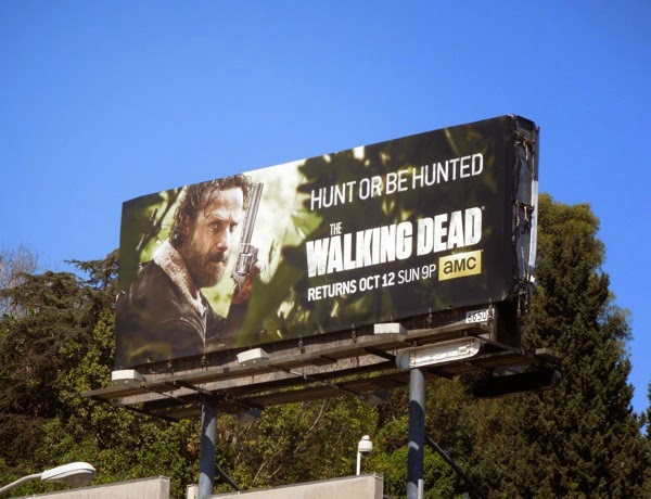 Walking Dead season 5 Hunt or be hunted billboard