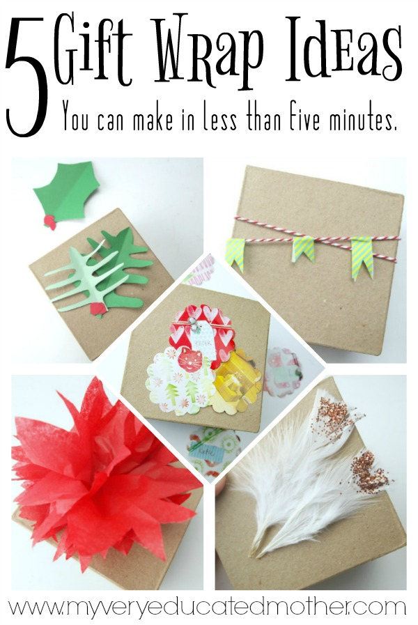 Five Gift Wrap Ideas In Less Than Five Minutes