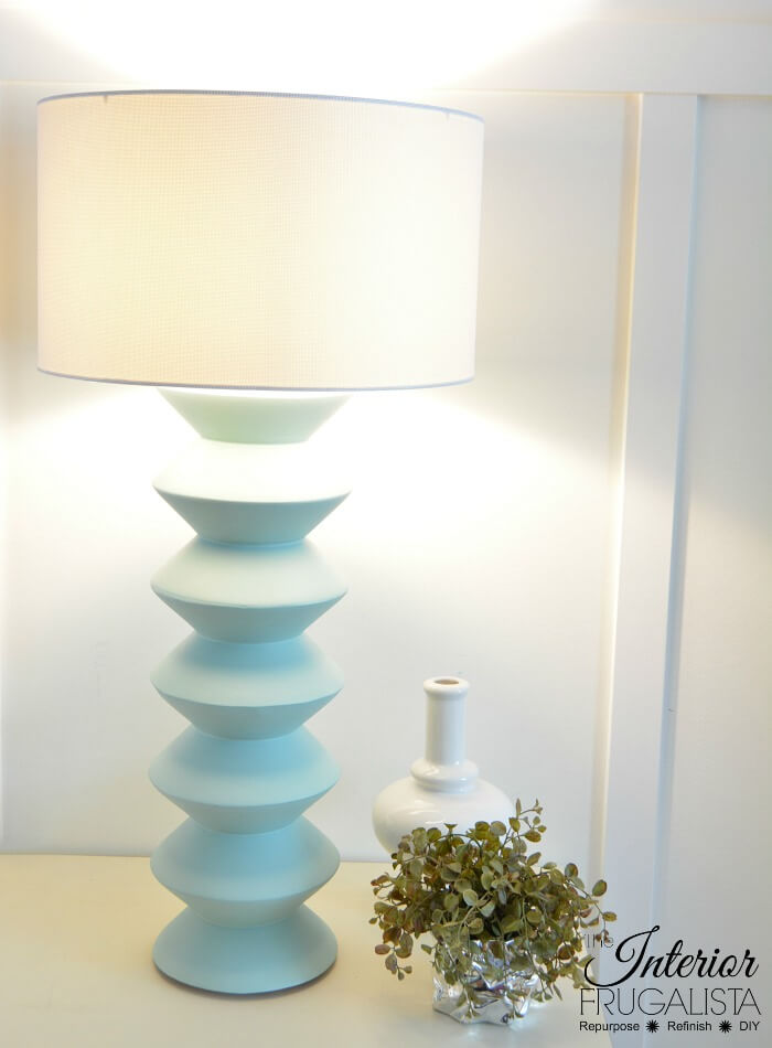 DIY Geometric Table Lamp With Tri Light Bulb Kit
