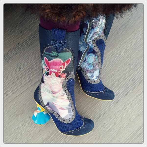 wearing irregular choice lost your muchness boots