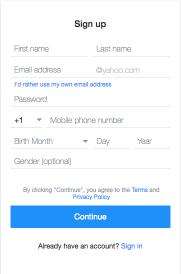 Sign Up and Login a New Yahoo Email Account Now