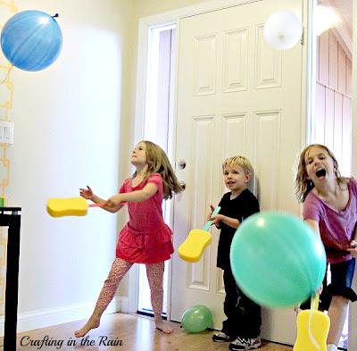 kids playing balloon game