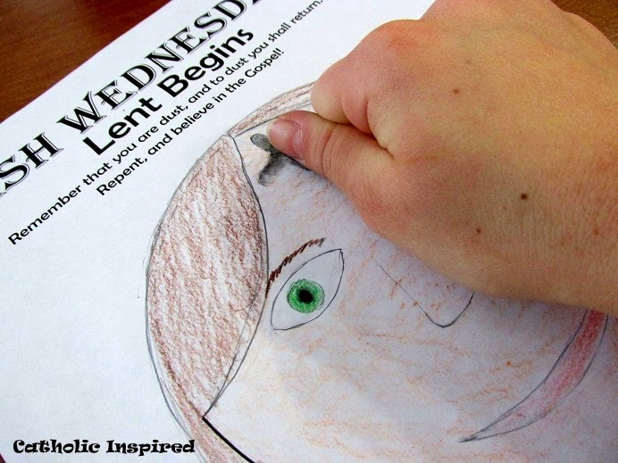 Ash Wednesday Printable Activity Page Get Ready For Lent
