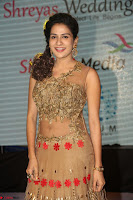 Jenny in brown transparent sleeveless anarkali dress at Shamanthakamani pre release function ~  Exclusive 028.JPG