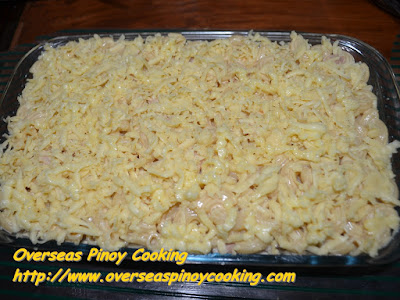 Baked Macaroni and Cheese Pinoy Style Recipe - Cheese Topping
