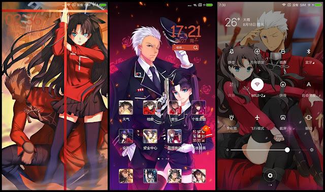 Tema Xiaomi Fate Grand Order V46 Gambar Anime Theme For