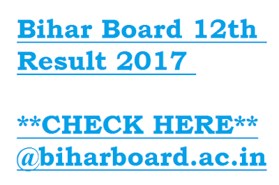 Bihar Board 12th Result 2017 at biharboard.ac.in