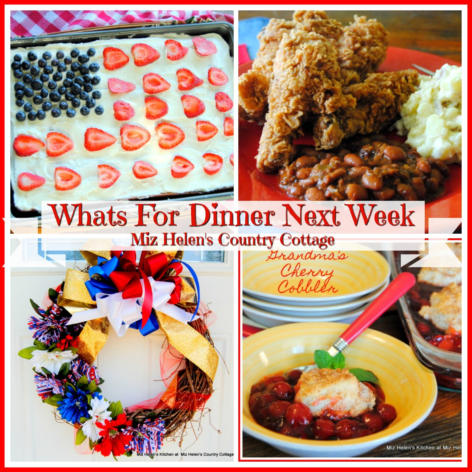 Whats For Dinner Next Week * Week of 5-24-20