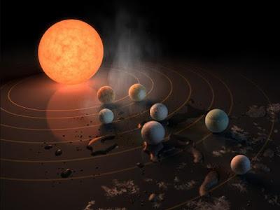 Il sistema extrasolare Trappist-1