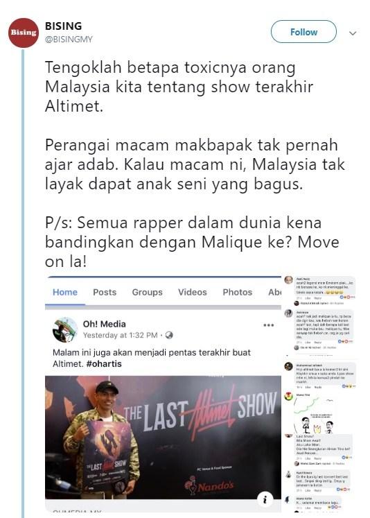 Netizen Panas Punggung Dengan Persaraan Altimet
