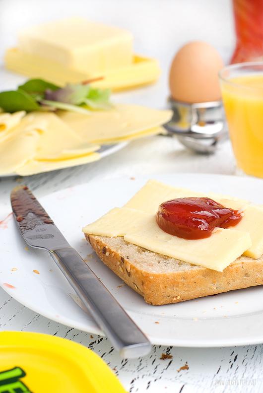 Leerdammer #wirkäsebroten Kampagne Rezeptideen für das Frühstück mit Käse