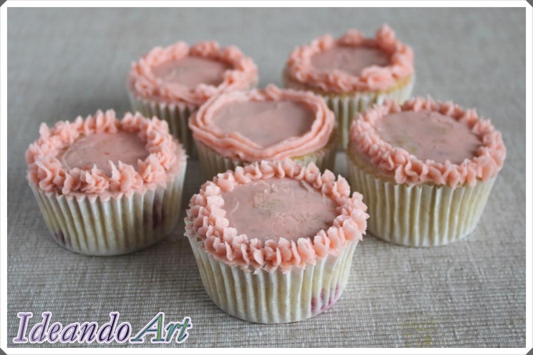 Cupcakes de fresas con buttercream