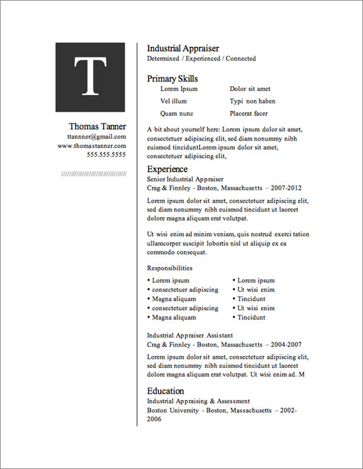 Free Resume Template - The Only One You'Ll Ever Need - Dadakan
