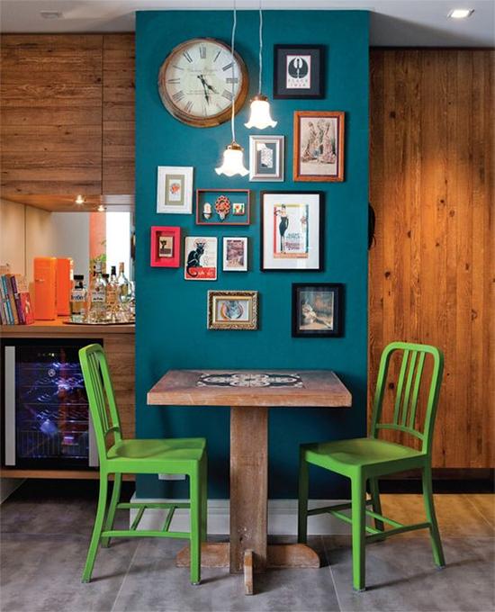 cozinha americana, parede azul, a casa eh sua, acasaehsua, decor, home decor, home, interior