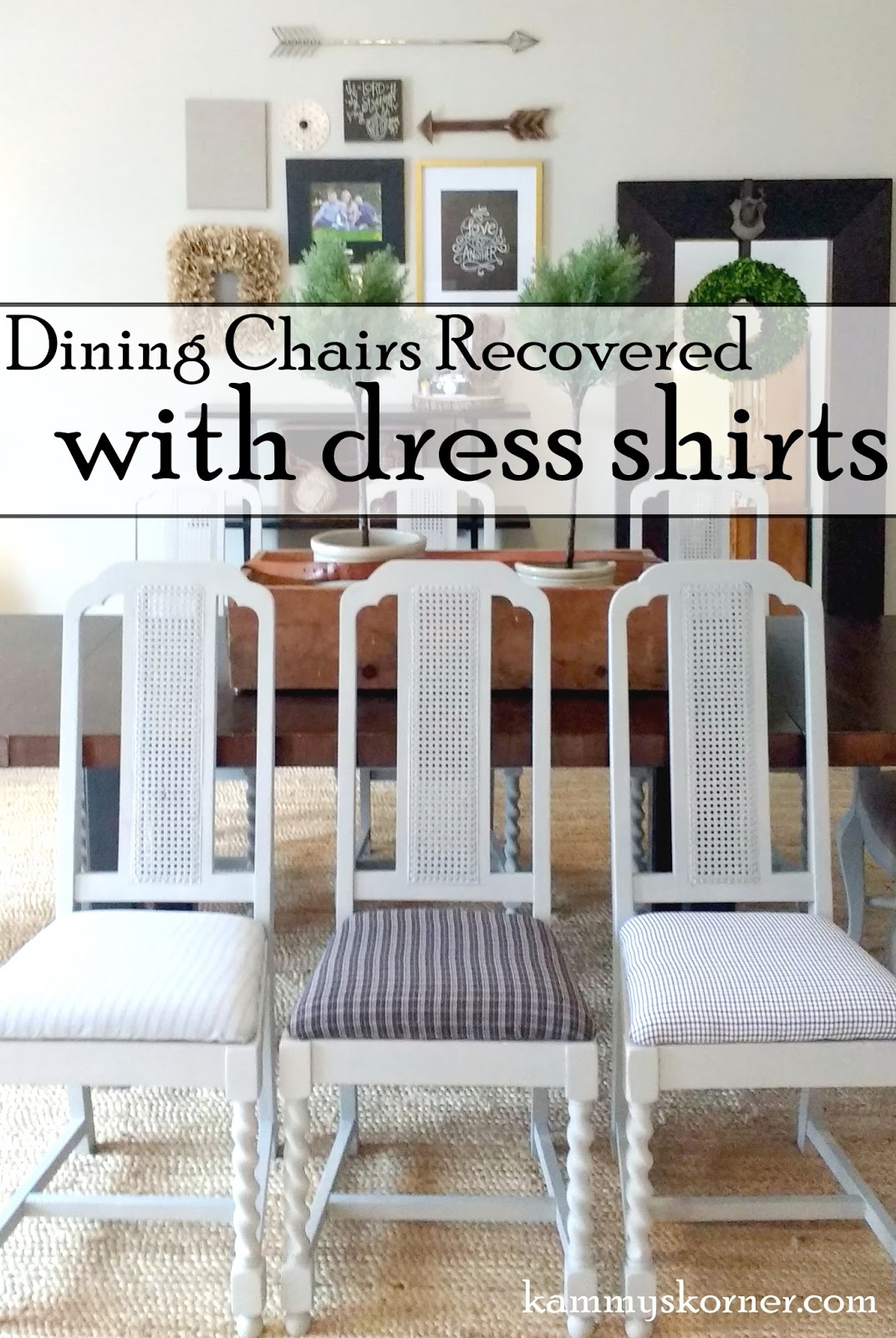 Recovering Dining Chairs With Menu0027s Dress Shirts!