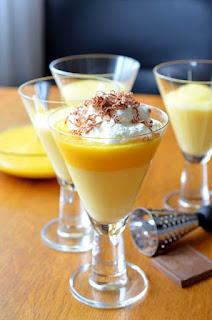 cara membuat pudding kuning selasih