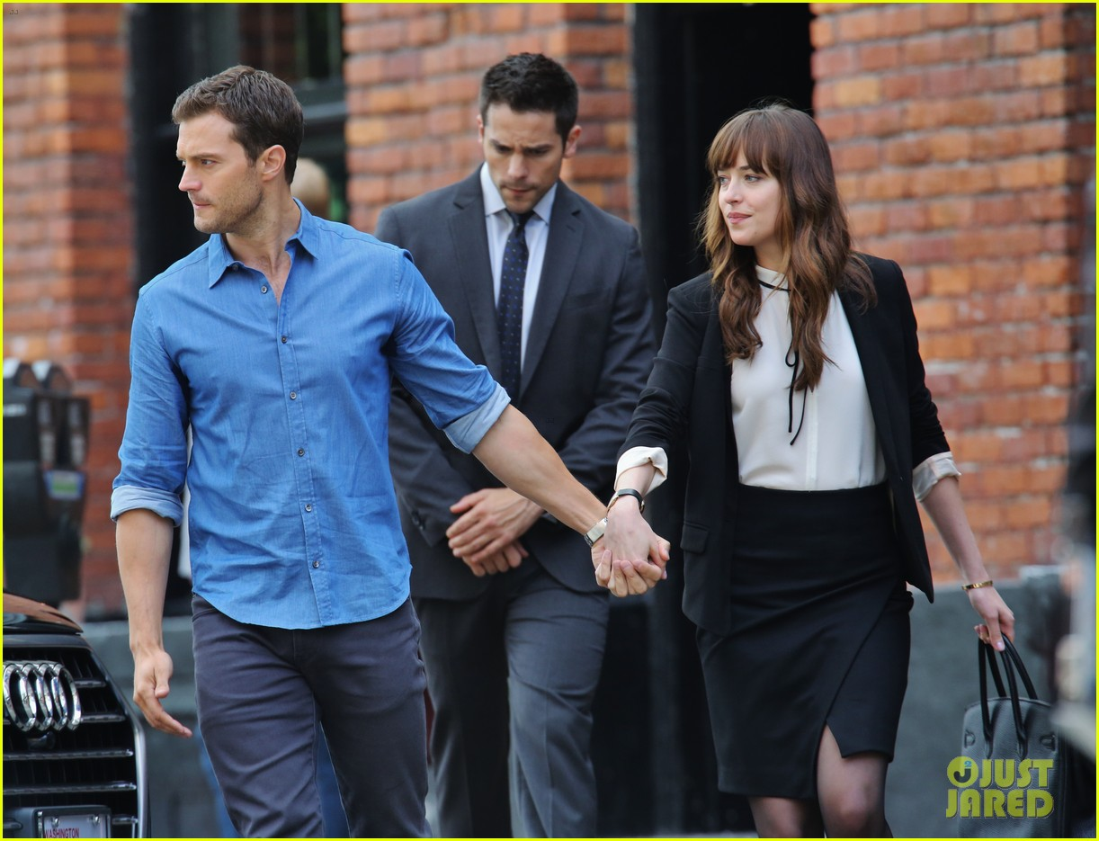 FiftyShadesBG PHOTOS Jamie Dornan Dakota Johnson Brant