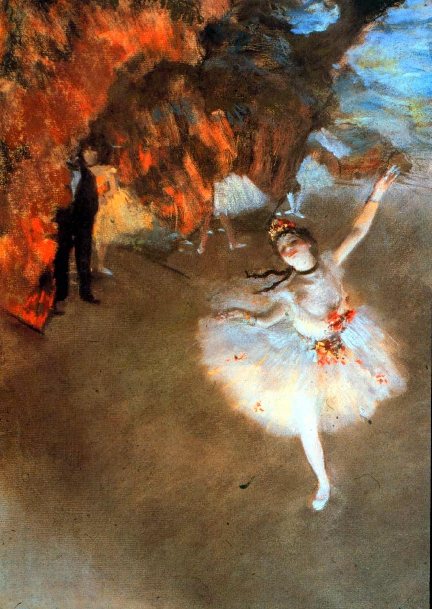 A Estrela - Edgar Degas e suas principais pinturas ~ O Pintor de Bailarinas