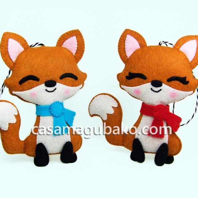 Fox Ornament Pattern by casamagubako.com