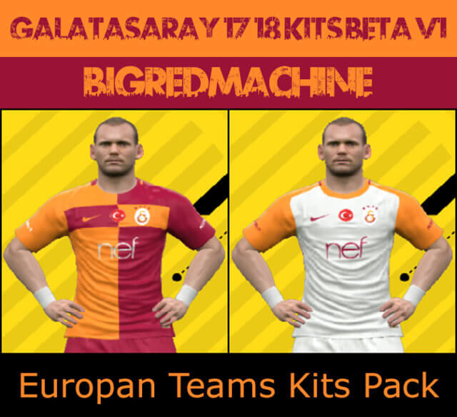 92818da81 Galatasaray 17-18 Kits BETA V1 - PES 2017 - PATCH PES