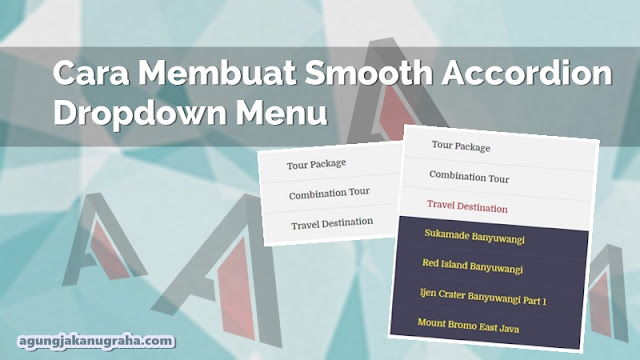 Cara Membuat Smooth Accordion Dropdown Menu