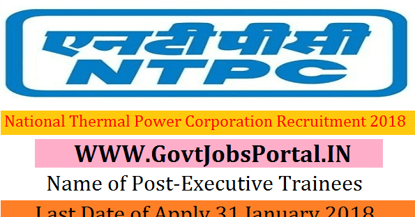National Thermal Power Corporation Limited Recruitment
