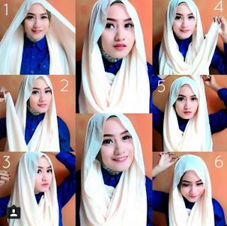 Cara Memakai Hijab Segi Empat Modern Untuk Remaja