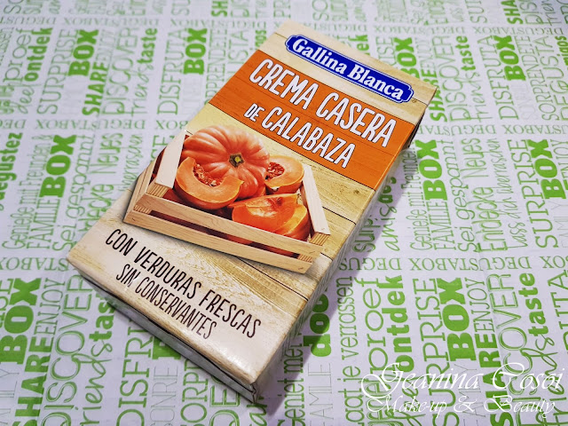 Crema casera de calabaza Gallina Blanca Caja Degustabox - Febrero ´18