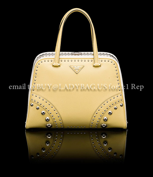 Prada-Top Handle-POLLEN YELLOW+WHITE