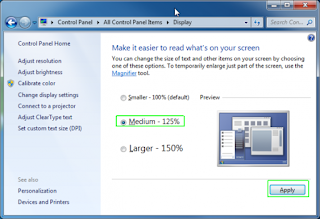How to Change the Text Size in Windows 7