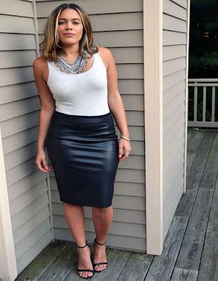 outfits elegante con falda