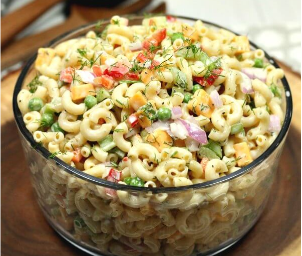 Easy Macaroni Salad Recipe #simplevegan #mealsrecipe