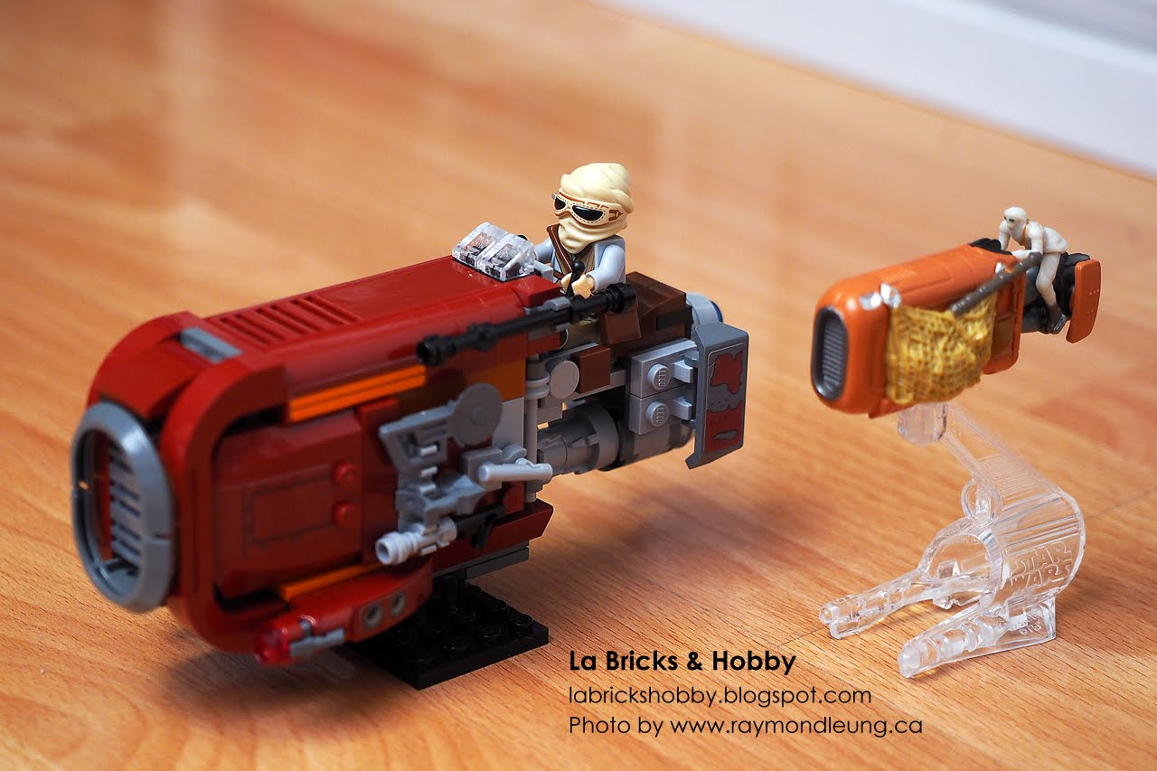 La Bricks Hobby Lego Star Wars Reys Speeder Modification