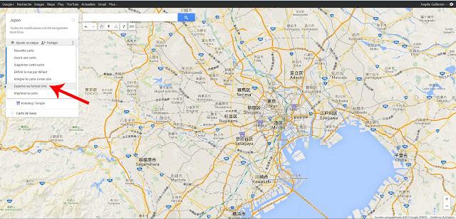 Fichier KMZ Google Maps
