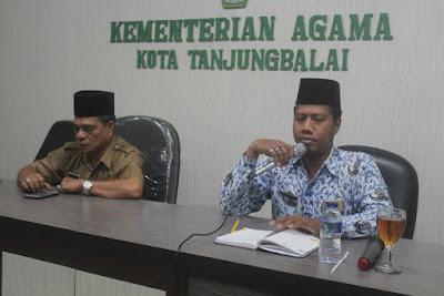 Kemenag Tanjungbalai Gelar Rakor Jajaran Bimas Islam