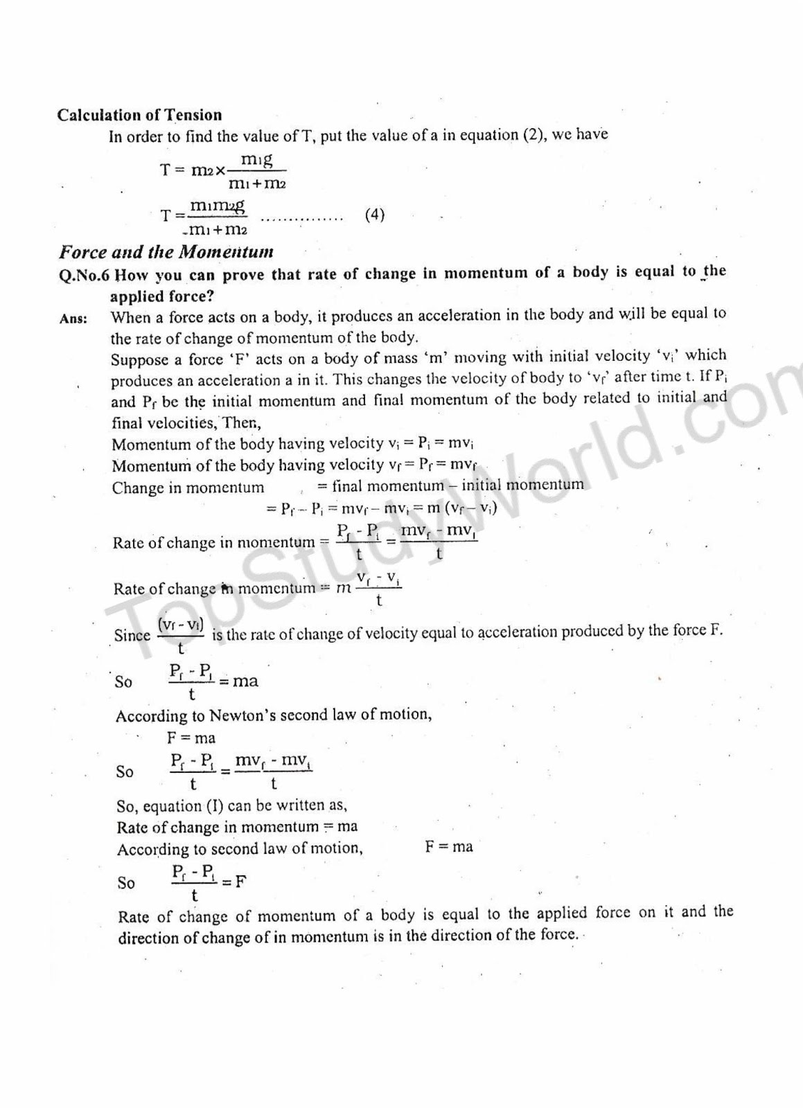 KIPS 9th Class Dynamics Physics 3rd Chapter Notes (With PDF