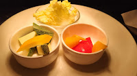 Chinese cabbage,diced Bell pepper and zucchini in small bowl healthy dinner Recipe