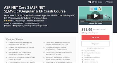 [FREE COURSE UDEMY] ASP NET Core 3 (ASP.NET 5),MVC,C#,Angular & EF Crash Course ( Google Driver link 2020 )