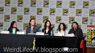 Diana Gabaldon, Sam Heughan, Caitriona Balfe, Maril Davis, and Ron D. Moore