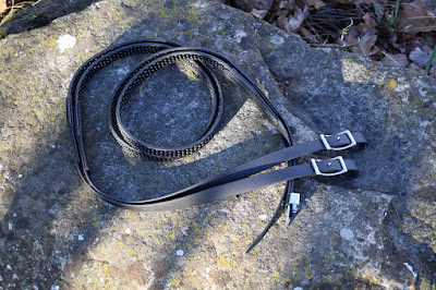 Biothane Beta reins with Super Grip custom made