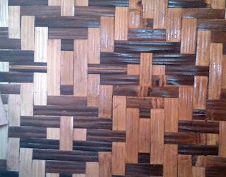 motif bilik bambu bintang