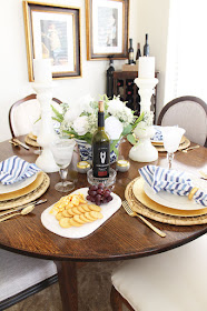 Coastal Blue and White Tablescape perfect for any holiday