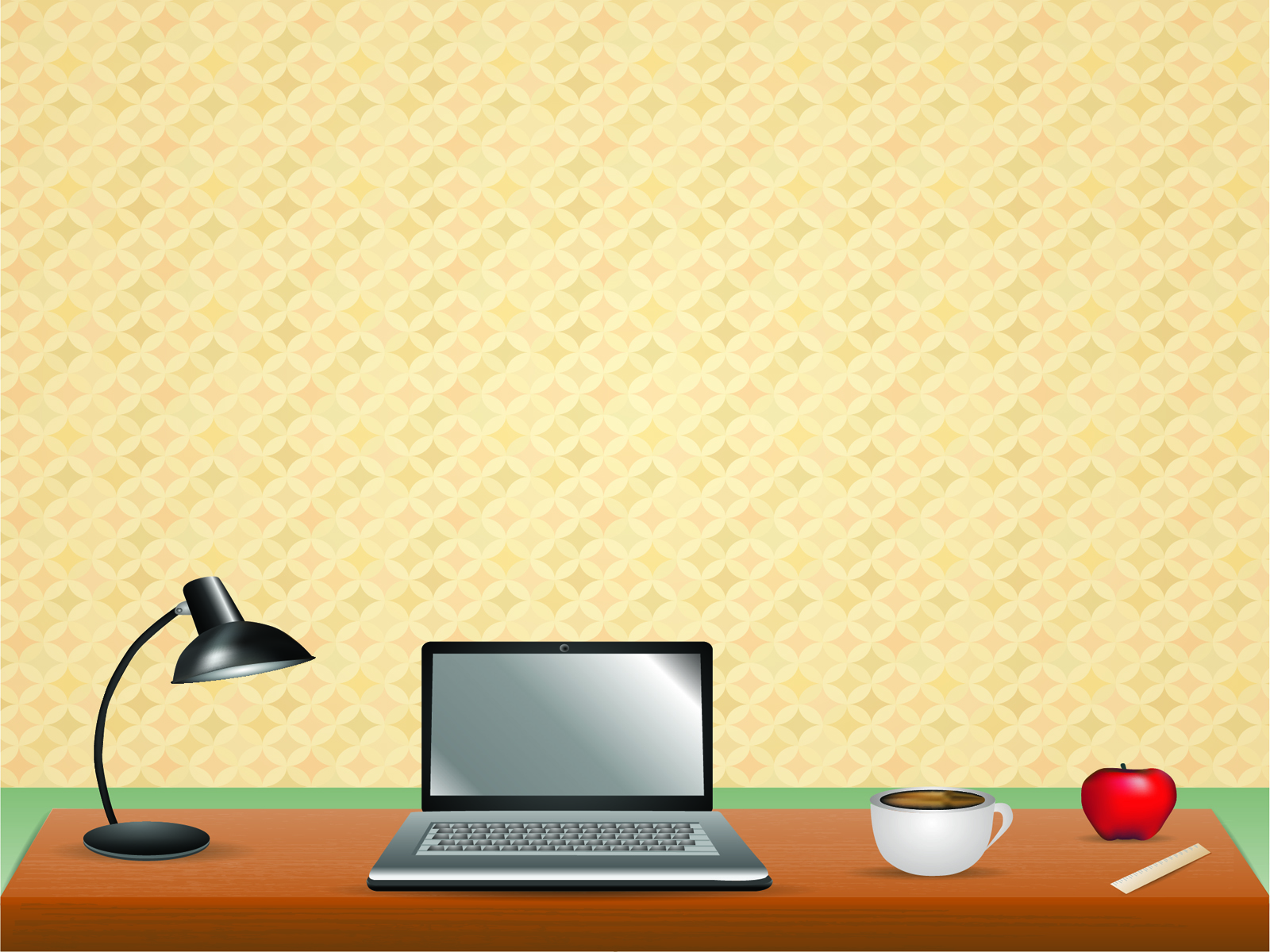 Office scene PowerPoint background
