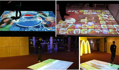 interactive floor projector for business and brands Advertisements, live systems