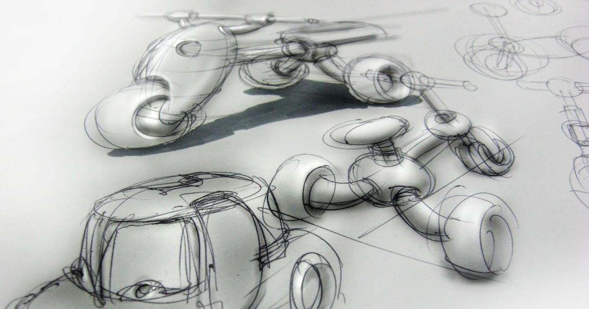 Teknik Sketsa Produk Render cepat gambar sketsa