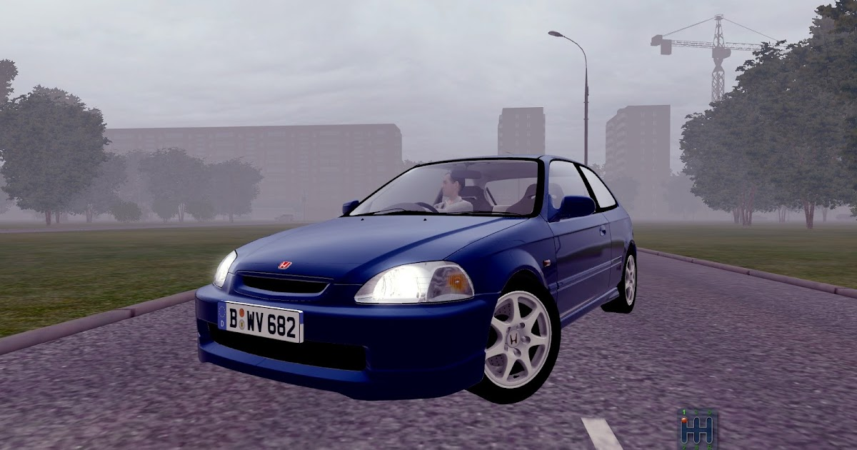 city car driving mods honda civic type r 1997 1 3 3. Black Bedroom Furniture Sets. Home Design Ideas